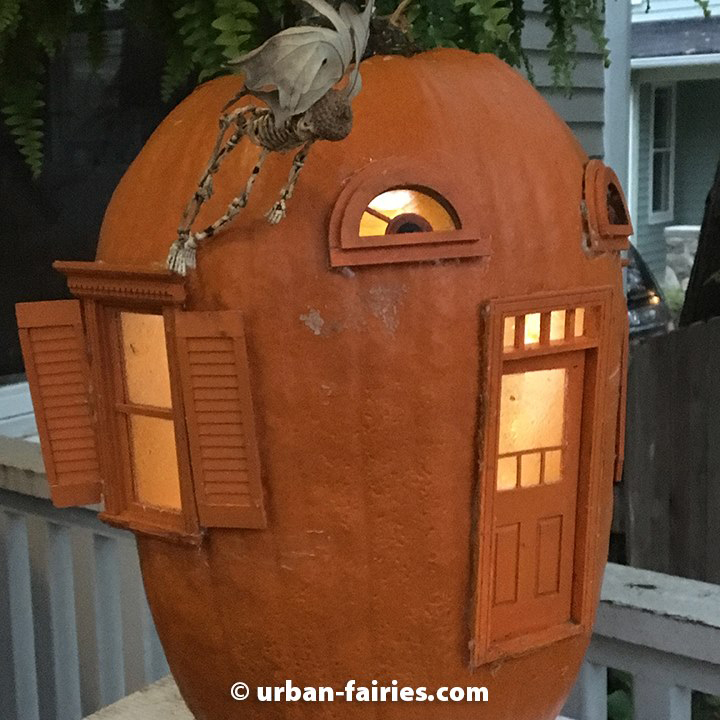 fairy door, Pumpkin, fairy jack-o-lantern, urban-fairies