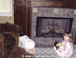 Urban Fairies, fairy doors, Locations-Our House-fireplace